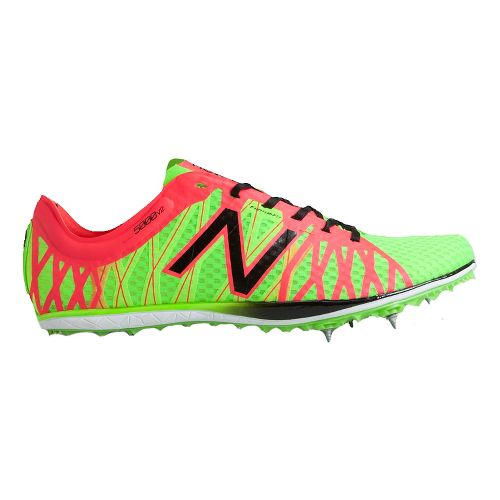 Mens New Balance LD5000v2 Track and Field Shoe - Chem Green/Cherry 11.5