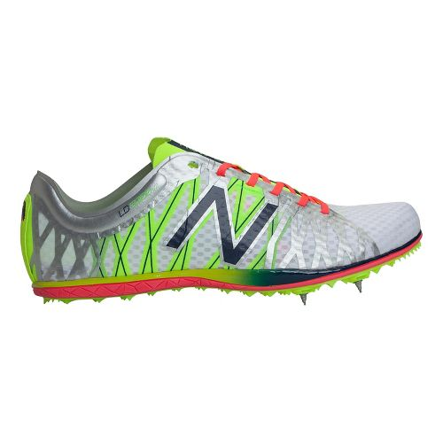 Mens New Balance LD5000v2 Track and Field Shoe - Chem Green/Cherry 12.5
