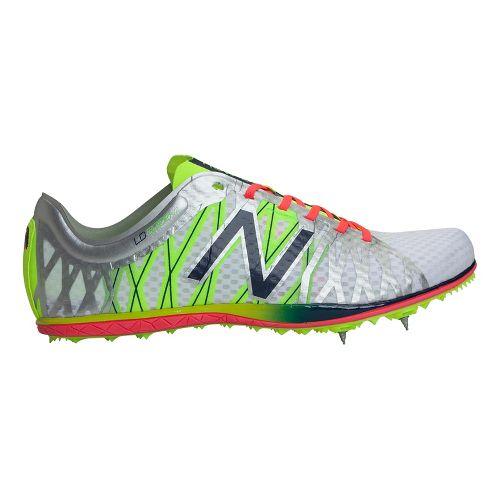 Mens New Balance LD5000v2 Track and Field Shoe - Silver/Dark Sapphire 9