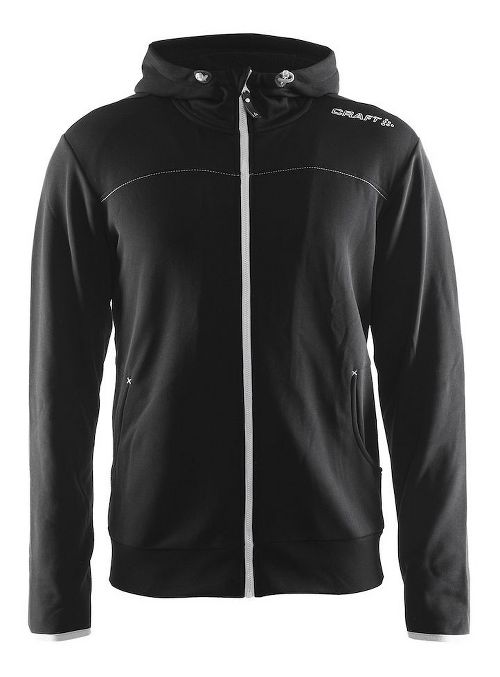 Mens Craft Leisure Full-Zip Hoodie & Sweatshirts Technical Tops - Black/Platinum XS