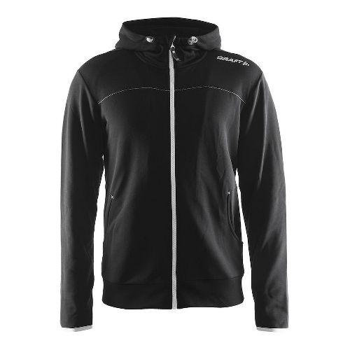 Mens Craft Leisure Full-Zip Hoodie & Sweatshirts Technical Tops - Black/Platinum XL