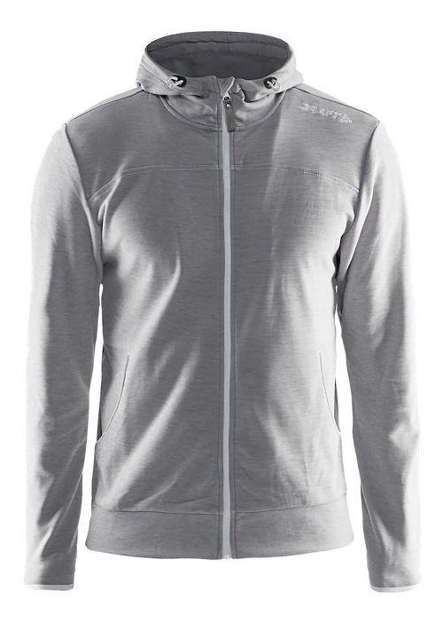Mens Craft Leisure Full-Zip Hoodie & Sweatshirts Technical Tops - Grey L