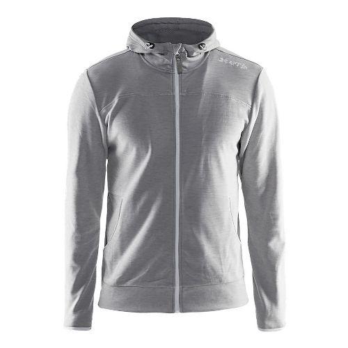 Mens Craft Leisure Full-Zip Hoodie & Sweatshirts Technical Tops - Grey S