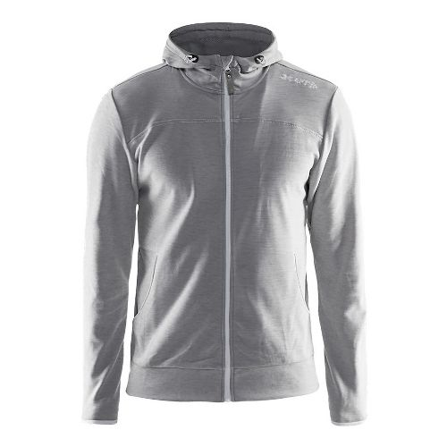 Mens Craft Leisure Full-Zip Hoodie & Sweatshirts Technical Tops - Grey XL