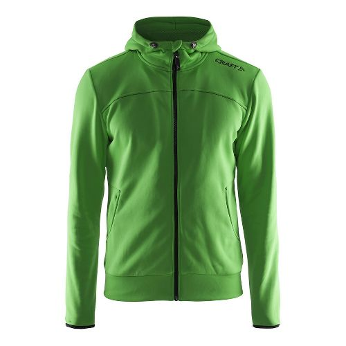 Mens Craft Leisure Full-Zip Hoodie & Sweatshirts Technical Tops - Craft Green XL