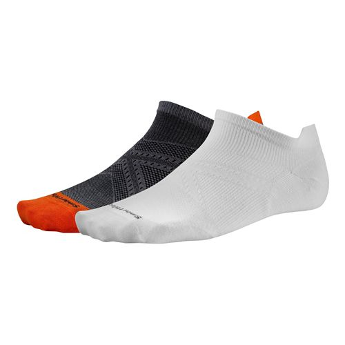 Smartwool PhD Run Ultra Light Micro Socks - Graphite/White L