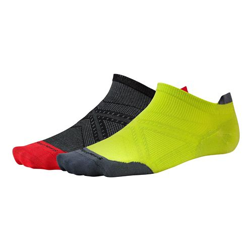 Smartwool PhD Run Ultra Light Micro Socks - Bright Green/Black L