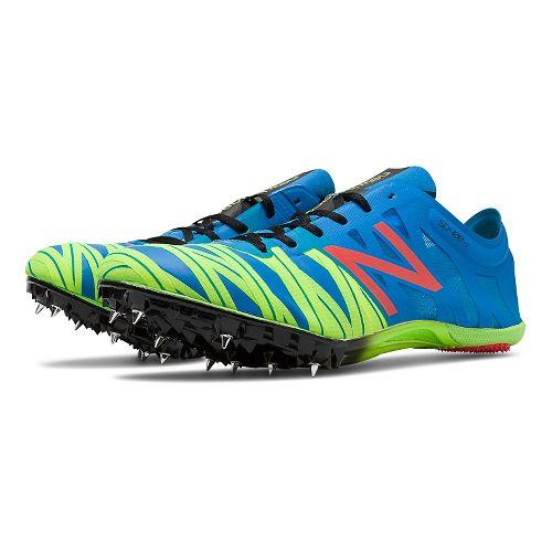 Mens New Balance SD400v2 Racing Shoe - Electric Blue/Hi-Lit 7