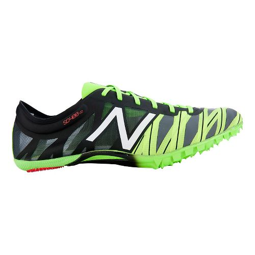 Mens New Balance SD400v2 Racing Shoe - Black/Chem Green 10.5