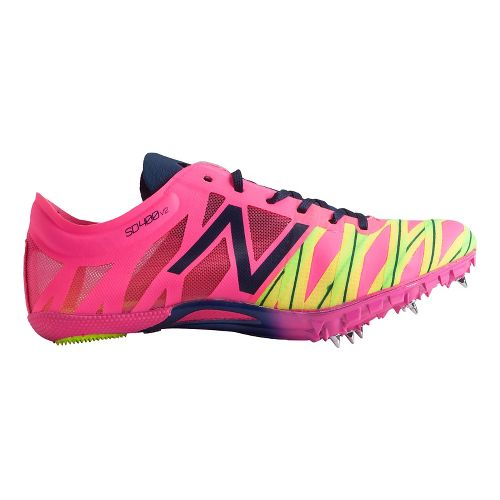 Womens New Balance SD400v2 Racing Shoe - AMP Pink/Dark Sapphire 6.5