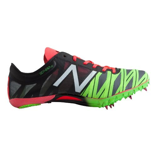 Womens New Balance SD400v2 Racing Shoe - Black/Bright Cherry 10.5