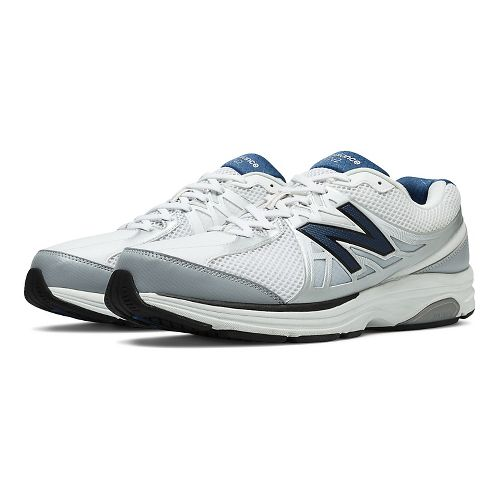 Mens New Balance 847v2 Walking Shoe - White 10.5