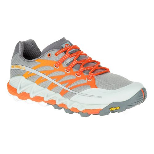 Mens Merrell All Out Peak Trail Running Shoe - Grey 8.5