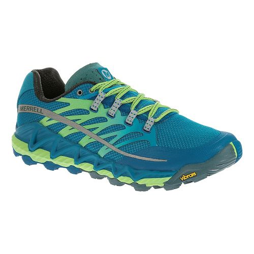 Mens Merrell All Out Peak Trail Running Shoe - Racer Blue 7.5