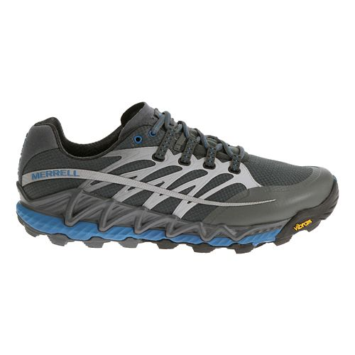 Mens Merrell All Out Peak Trail Running Shoe - Turbulence/Blue 10