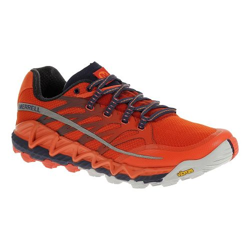 Mens Merrell All Out Peak Trail Running Shoe - Spicy Orange 10
