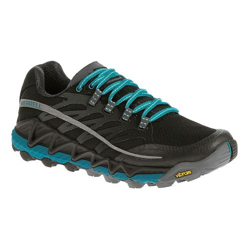 Womens Merrell All Out Peak Trail Running Shoe - Black 5