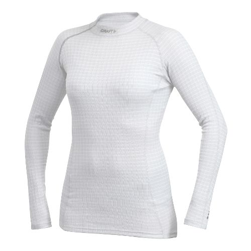Womens Craft Active Extreme Crewneck Long Sleeve No Zip Technical Tops - White L