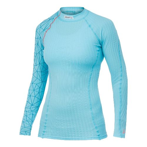 Womens Craft Active Extreme Crewneck Long Sleeve No Zip Technical Tops - Aquamarine M