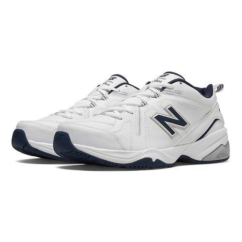 Mens New Balance 608v4 Cross Training Shoe - White/Navy 11.5