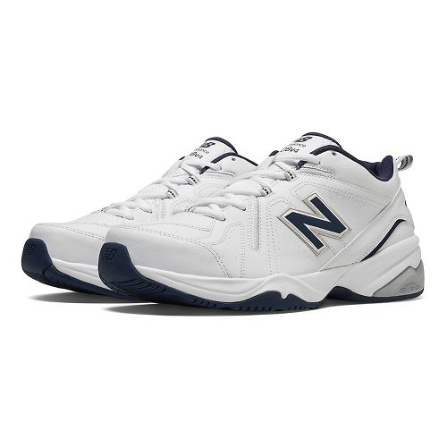 Mens New Balance 608v4 Cross Training Shoe - White/Navy 8.5