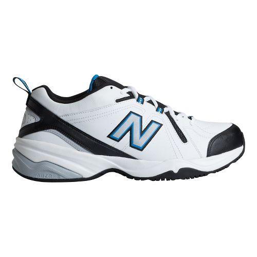 Mens New Balance 608v4 Cross Training Shoe - White/Royal 12