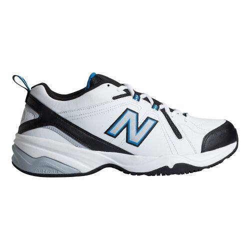 Mens New Balance 608v4 Cross Training Shoe - White/Royal 12.5