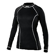 Womens Craft Active Crewneck Long Sleeve Technical Tops - Black XL