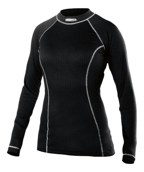 Womens Craft Active Crewneck Long Sleeve Technical Tops - Black XL