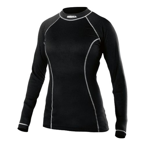 Womens Craft Active Crewneck Long Sleeve Technical Tops - Black S
