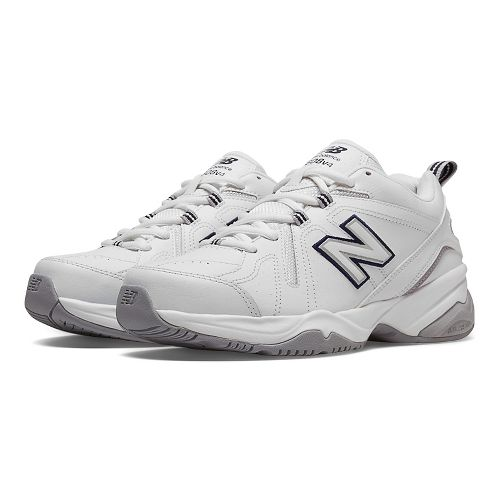 Womens New Balance 608v4 Cross Training Shoe - White/Blue 9.5