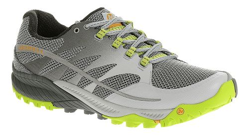 Mens Merrell All Out Charge Trail Running Shoe - Grey/Lime 7.5