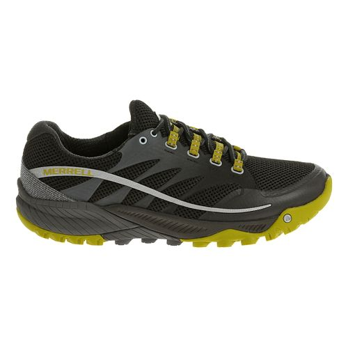 Mens Merrell All Out Charge Trail Running Shoe - Granite/Green 9