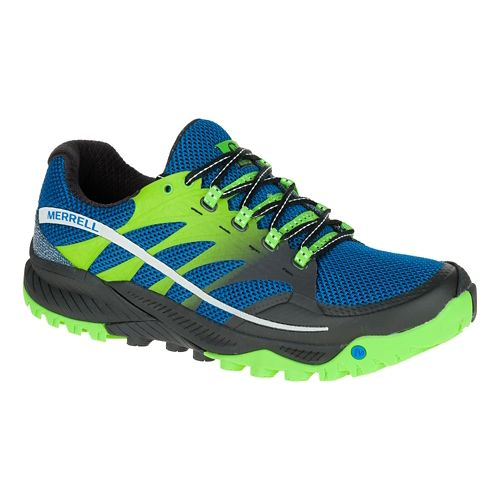 Mens Merrell All Out Charge Trail Running Shoe - Blue Dusk 11