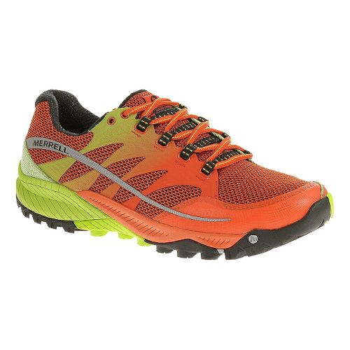 Mens Merrell All Out Charge Trail Running Shoe - Spicy Orange 12