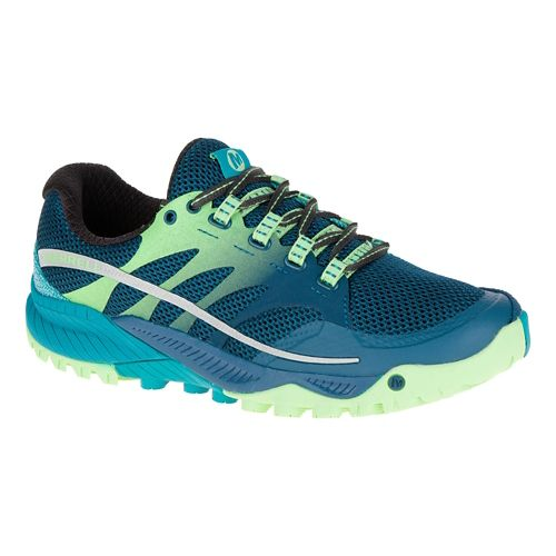 Womens Merrell All Out Charge Trail Running Shoe - Blue 10.5