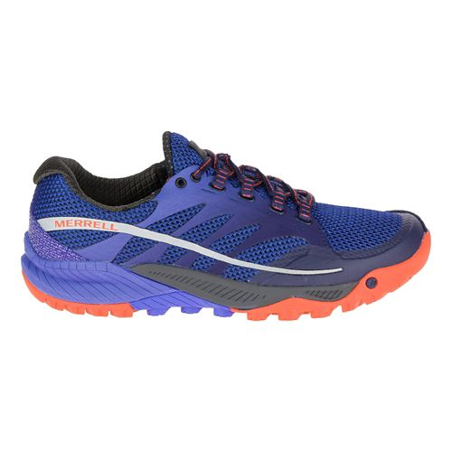 Womens Merrell All Out Charge Trail Running Shoe - Surf The Web 6.5