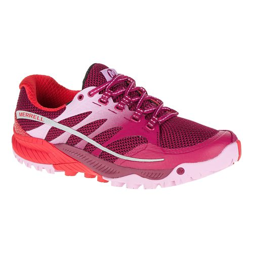 Womens Merrell All Out Charge Trail Running Shoe - Bright Red 9.5