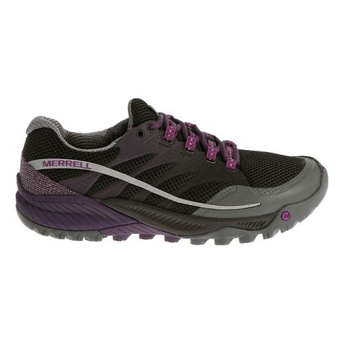 Womens Merrell All Out Charge Trail Running Shoe - Grey/Green 10.5