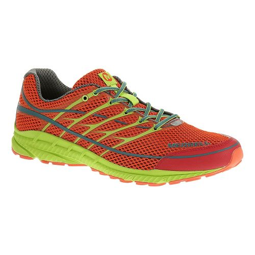 Mens Merrell Mix Master Move 2 Trail Running Shoe - Haute Red/Lime Green 7