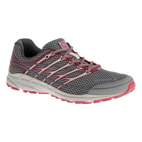 Womens Merrell Mix Master Move Glide 2 Trail Running Shoe - Gray/Pink 6.5