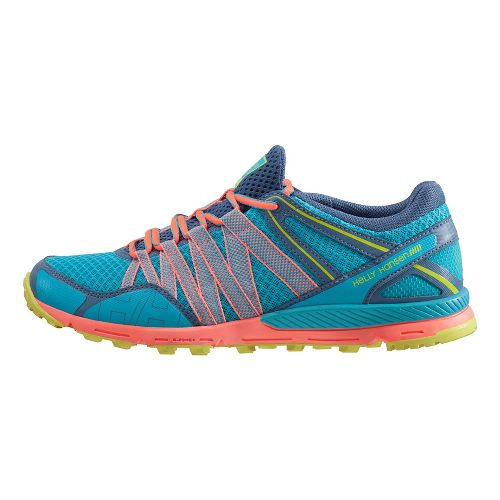 Womens Helly Hansen Terrak Trail Running Shoe - Aqua Marine/Bloom 7.5