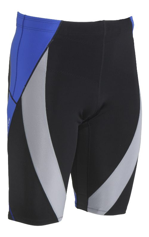 Mens CW-X Endurance Generator Unlined Shorts - Black/Grey Blue XL
