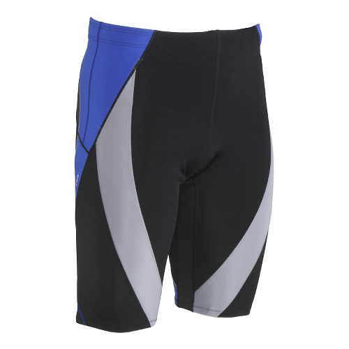 Mens CW-X Endurance Generator Unlined Shorts - Black/Grey Blue L