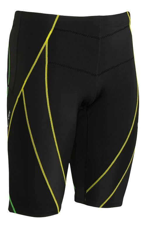 Mens CW-X Endurance Generator Unlined Shorts - Black/Green L
