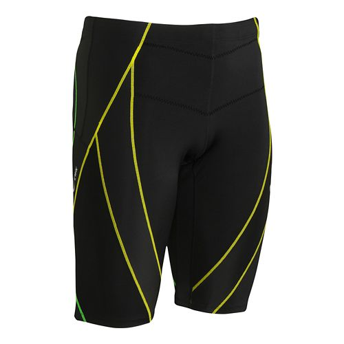 Mens CW-X Endurance Generator Unlined Shorts - Black/Green S