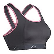 Womens CW-X Xtra Support Running III Sports Bra - Charcoal/Pink 36-D