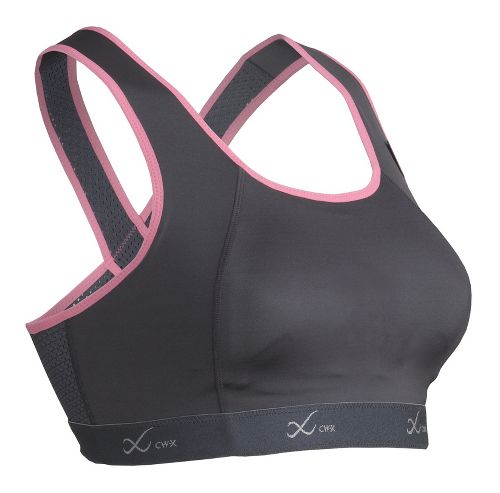 Womens CW-X Xtra Support Running III Sports Bra - Charcoal/Pink 36-DD