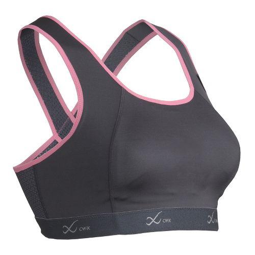 Womens CW-X Xtra Support Running III Sports Bra - Charcoal/Pink 38-D