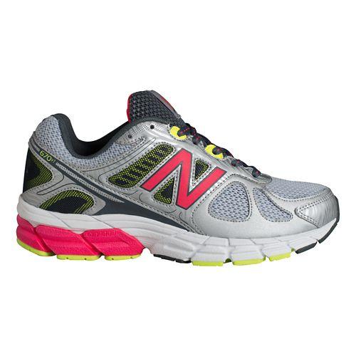 Womens New Balance 670v1 Running Shoe - Silver/Pink 8.5